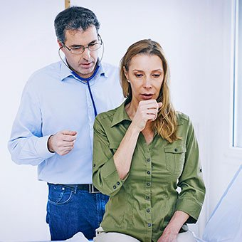 A doctor should examine any patient with persistent coughing.