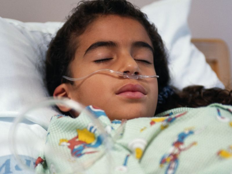 News Picture: This Year's Flu Season Taking Deadly Aim at Kids